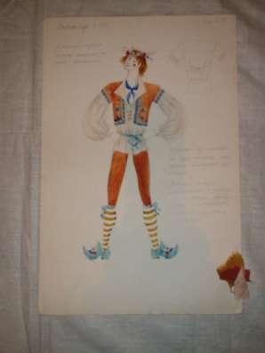 1988 г Хрущева  аквар. театральные костю