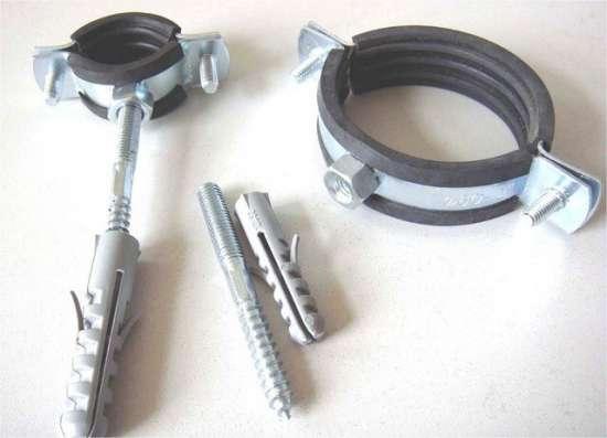 Скоба СМР 19-20 мм металлическая резиноармированная в Москве Фото 5