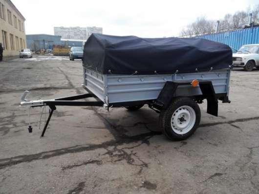 Прицеп для легкового автомобиля с V образным дышлом 1800х1250 с тентом и дугами в Москве Фото 4