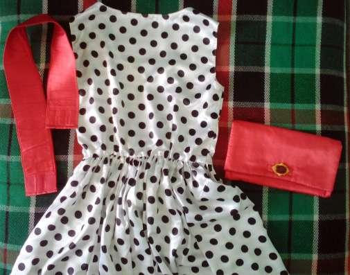 Платье в горох 44-48 р-р