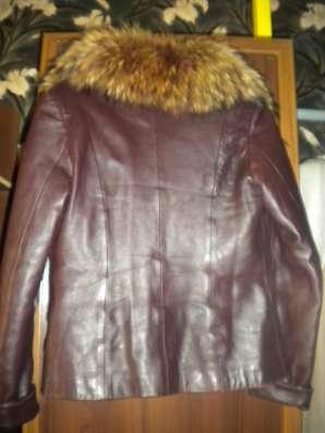 Куртка-кожа, с меховой подстёжкой