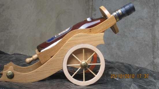 Тара декоративная для напитков и пушка на заказ
