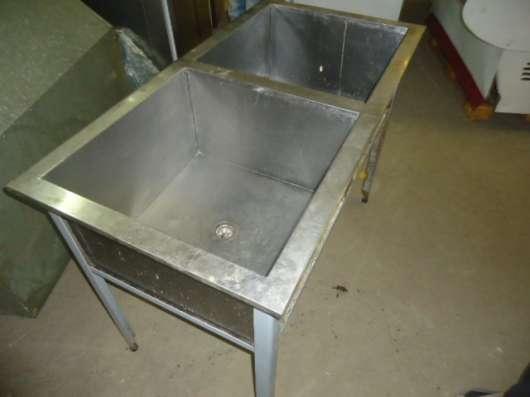 Ванна кухонная моечная, два отделения