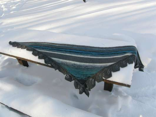 шарф шаль платок ручная работа