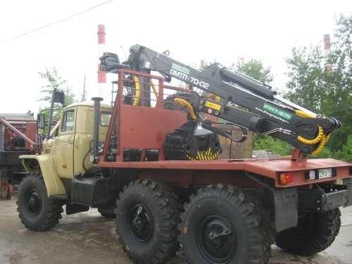 Лесовоз урал 4320, с консервации с новым манипулятором Омтл-70,02 в Миассе Фото 1