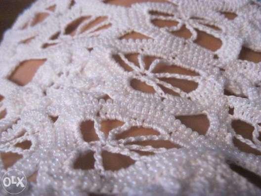 Вязаное белое летнее платье ручной работы в г. Днепропетровск Фото 3