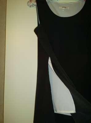 Блузка без рукавов,черная, размер 46-48