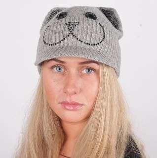 Женская трикотажная шапка мод. 439