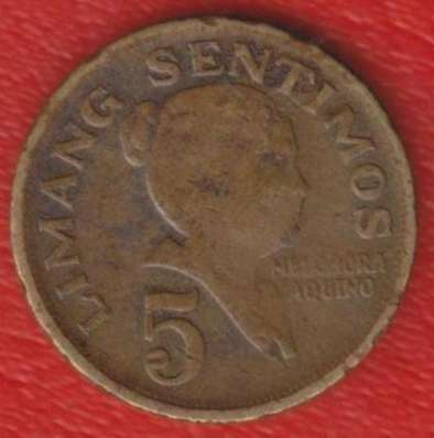 Филиппины 5 сентимо 1967 г.