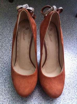 Туфли коричневые на горочке