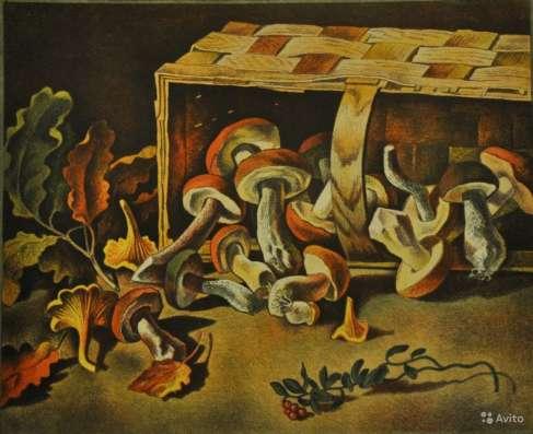 Литография В. Смирнов Бабушкино лукошко
