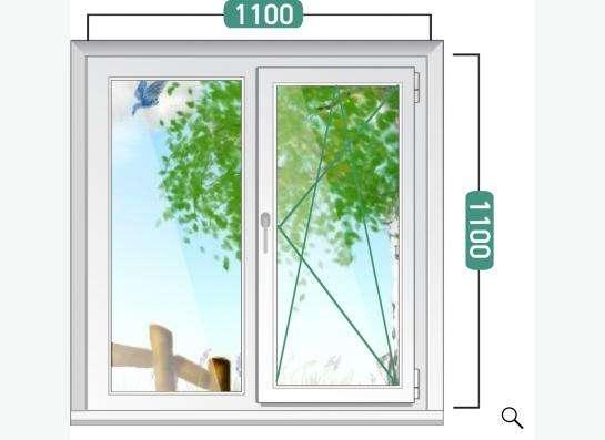 Пластиковое окно 1100х1100