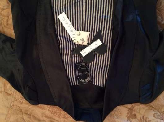 Пиджак черный атласный