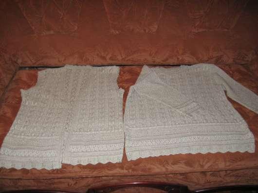 Комплект пуловер+жилет лен