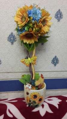 Топиарии и картины из искусственных цветов в Екатеринбурге Фото 1