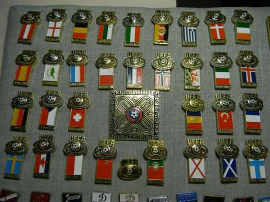 Комплект значков: Чемпионат Европы Юноши 1984г. СССР