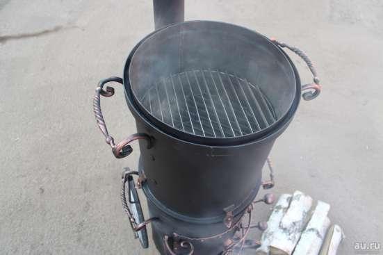 Печь под казан плюс коптильня горячего копчения