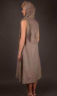 Платье XXL (52) Италия Новое Шелк Хлопок Хаки