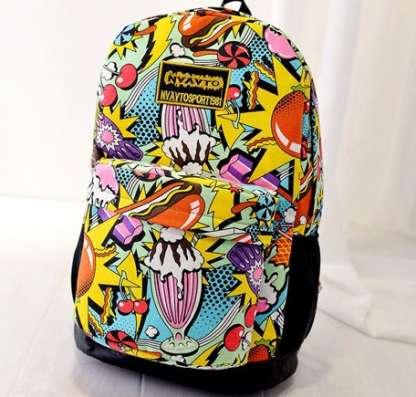 Рюкзак городской цветной яркий