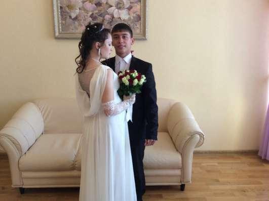 Свадебное платье, шубка, перчатки в Омске Фото 2
