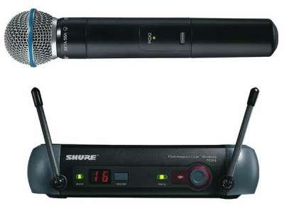 микрофон SHURE PGX24/BETA58A радио