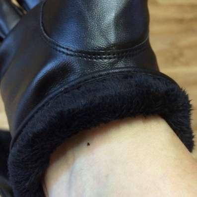 Перчатки мужские новые черные простроченные утепленные