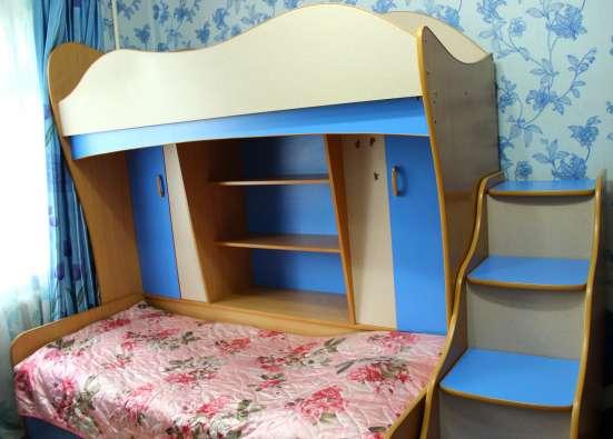 Двухъярусная детская кровать-стенка в г. Петропавловск Фото 1