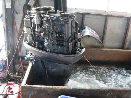отличный лодочный мотор YAMAHA F150, нога L из Японии, 4-х тактный, 2001 г., в Владивостоке Фото 2