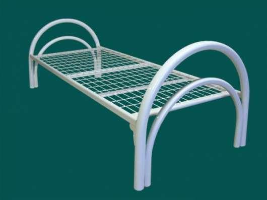 Железные армейские кровати, одноярусные металлические для больниц, бытовок оптом.