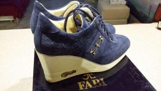 """Ботинки """"FABI"""" синие замша"""