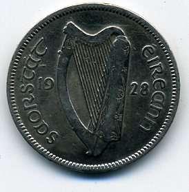Ирландия 6 пенсов 1928 г. (Ирландское свободное государство) в Москве Фото 1