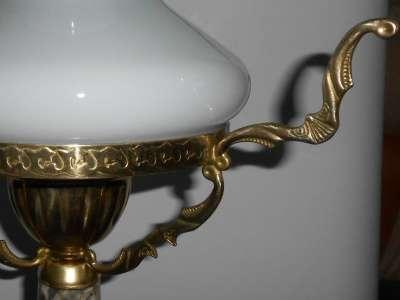 Настольная Лампа.Мрамор.Латунь. 1950х.