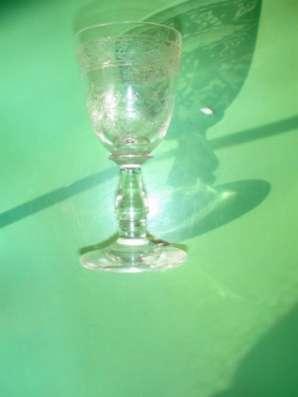19 век рюмка с гравировкой