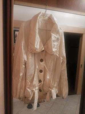 Продам куртку ветровку кремового цвета б/у 48-50 размер