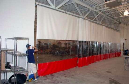 ПВХ шторы для больших ангаров