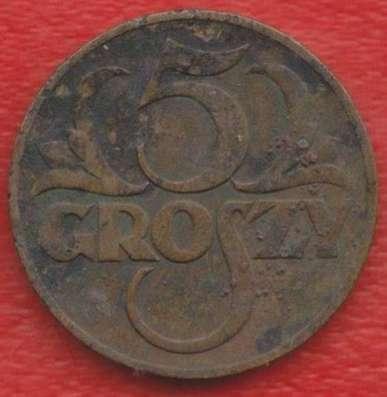Польша 5 грош 1938 г.