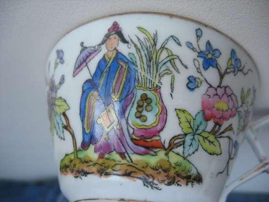 Старинный чайный сервиз. Восточная тема. Кузнецов