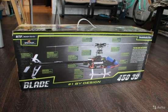 Радиоуправляемый вертолет Blade 450 3D + аккум в Москве Фото 1