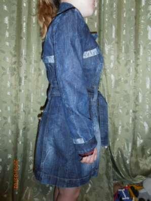 плащ джинсовый пр-во Турция 44-46р-р в Чебоксарах Фото 1