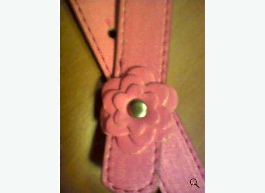 ремень розовый с цветочками